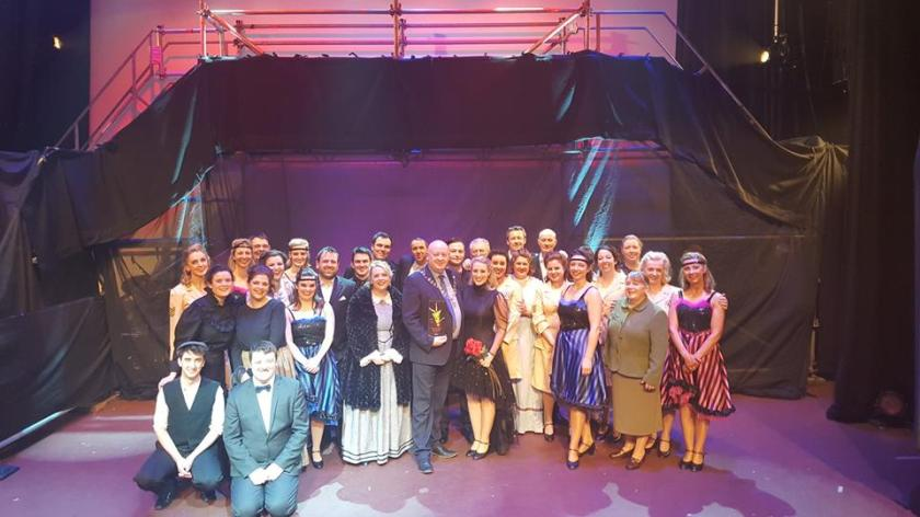 Cast of Funny Girl with AIMS President, Seamus Power